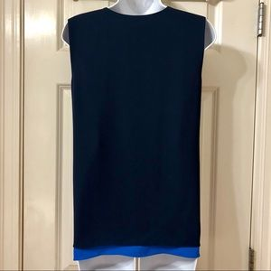 BCBGMaxAzria Tops - BCBG double layered hi-lo sleeveless work blouse